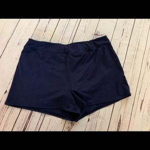 Lands End Navy Swim Shorts 16